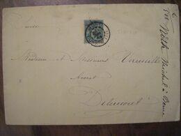 FRANCE Algérie 1889 Bone Constantine Suisse Delemont Lettre Enveloppe Cover Colonies - Sage
