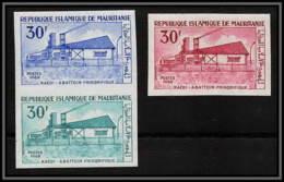 92310 Mauritanie N°274 Kaedi Abattoir Frigorifique Refrigerated 1969 Essai Proof Non Dentelé Imperf ** MNH 3 Timbres - Mauritania (1960-...)