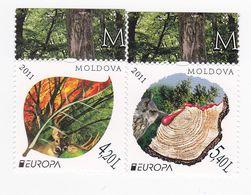 2011 , MOLDOVA , MOLDAVIE , MOLDAU , Europa , CEPT , Forests , Oiseaux , Deer , Birds , MNH , Set - 2011