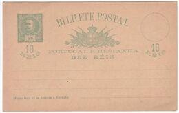 Portugal 1900 Prepaid Postcard Mint, Bearing 10 Reis Green - 1892-1898 : D.Carlos I