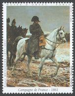 NAPOLEON / Horse - Painting MUSEUM D'ORSAY Paris - Ernest MEISSOINER - LABEL CINDERELLA VIGNETTE - France 1999 - Napoleon