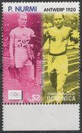 Athletics Running Paavo Nurmi Finland - Antwerpen Belgium 1920 OLYMPIC GAMES - Dominica 2004 - MNH - Athletics