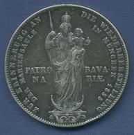 Bayern Doppelgulden 1855 Mariensäule, Maximilian II., J 84 Ss, Patina (m2686) - Taler Et Doppeltaler
