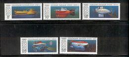 USSR/RUSSIA 1990 Submarines; Scott Catalogue No(s). 5941-5945 MNH - Submarines