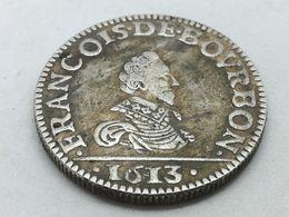 RÉPLICA Moneda 1613. 1 Liard. Francisco De Borbón. Principado De Château-Regnault, Francia. Rara - 1610-1643 Lodewijk XIII Van Frankrijk (De Rechtvaardige)