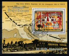 NORTH  KOREA    THE  FIRST  ORIENT  EXPRESS ON  ITS INAUGURAL TRIP IN 1883          1 SHEET  USED - Umm Al-Qaiwain