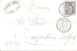 Ecoche (Loire). Cachet à Date Type 25r Sur Sage. - Bolli Manuali