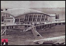 BORYSPIL, UKRAINE (USSR, 1966). AIRPORT, AIRPLANE Tu-104. Unused Postcard - Aeródromos