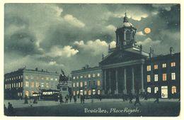 "A0602[Postkaart] Bruxelles. Place Royale. [verso Stempel Reclame] ""Cartes Cortenbergh / Lille-Bruxelles / Specimen"" - Bruxelles By Night"