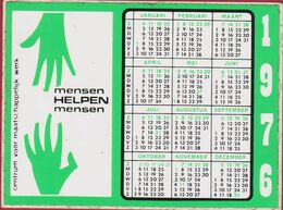 Sticker Autocollant Kalender Calender Calendrier Charity Mensen Helpen Mensen - Autocollants