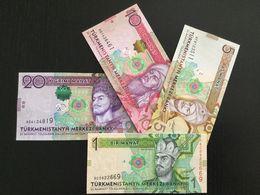 TURKMENISTAN SET 1 5 10 20 MANAT BANKNOTES 2012 UNC - Turkménistan