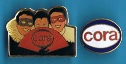 2 PIN'S // ** LOGOS / CORA ** - Badges