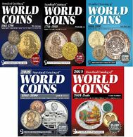 Catalogues Des Monnaies KRAUSE Standard Catalog Of World Coins 5 CATALOGS  LIVRAISON GRATUITE FREE SHIPPING - Libros & Software