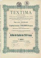 Titre Ancien - TEXTIMA - Société Anonyme - Titre De 1929 - Textile