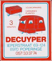 Sticker Autocollant Poperinge Decuyper Caravan Caravanes Camping Aufkleber Adesivo - Stickers