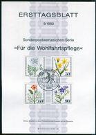 Berlin - 1980 ETB 09/1980 - Mi 629 / 632 - Ackerwildkräuter, Wohlfahrtsmarken 1980 - FDC: Hojas