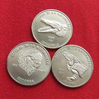 CUBA 3 X 1 Peso 1985 Fauna Caribbean - Cuba