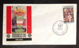MEXICO, Uncirculated FDC, « FOOTBALL », « SOCCER », « WORLD CUP », « MEXICO 70 », 1970 - Mexique
