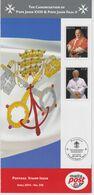 Malta 2014 Brochure About Block 59 - The Canonisation Of Pope John XXIII And Pope John Paul II - 2014 - Malta