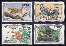 Rwanda - 1245/1248 - John James Audubon - Oiseaux - Buzin - 1985 - MNH - Rwanda