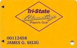 Tri-State Racetrack & Gaming Center Cross Lanes WV Advantage Player's Club /Slot Card - Carte Di Casinò