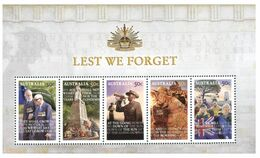 (G 3) Australia - Mint Mini Sheet - Lest We Forget (WWI & II Military) - 2010-... Elizabeth II