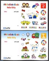United Nations, Geneva 2020 Hello Kitty 2 S/s S-a, (Mint NH), Children's Books Illustrations - Cycling - Ciclismo