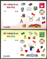 United Nations, New York 2020 Hello Kitty 2 S/s S-a, (Mint NH), Children's Books Illustrations - Non Classificati