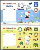 United Nations, Vienna 2020 Hello Kitty 2 S/s S-a, (Mint NH), Children's Books Illustrations - Non Classificati