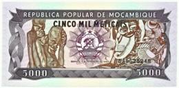 Mozambique - 5000 Meticais - 03.02.1989 - Unc. - P 133.b - Serie DA - 5.000 - Mozambique