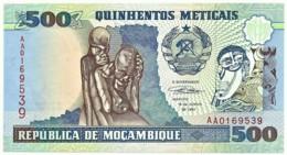 Mozambique - 500 Meticais - 16.06.1991 - Unc. - P 134 - Serie AA - Mozambique