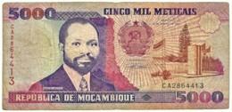 Mozambique - 5000 Meticais - 16.06.1991 - P 136 - Serie CA - 5.000 - Mozambique