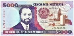 Mozambique - 5000 Meticais - 16.06.1991 - Unc. - P 136 - Serie CB - 5.000 - Mozambique
