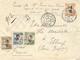 1925- Enveloppe RECC. D'Hanoï- Gare   Pour La France Affr. à 17 Cents - - Briefe U. Dokumente