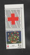 """FRANCE / 1984 / Y&T N° 2345a + Vignette ** : Croix-Rouge """"Corbeille Rose"""" De Caly (de Carnet Avec Vignette) X 1 CdC D - Ongebruikt"""