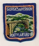 Ecusson Tissu Feutrine => GORGES DU VERDON - Pont S/ Lartuby - Ecussons Tissu