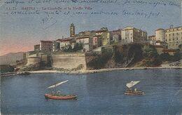 X117828 HAUTE CORSE BASTIA LA CITADELLE ET LA VIEILLE VILLE CARTE COLORISEE - Bastia