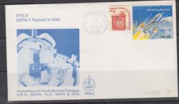 SPACE - USA - 1981 - OSTA 1 PAYLOAD ORBIT COVER  WITH HOUSTON  12 NOV 1981  POSTMARK - Stati Uniti