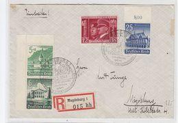 Deutsches Reich R-Orts-Brief Mit Eckrand ZD Und SST+AKs - Alemania
