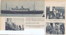 Orig. Knipsel Coupure Tijdschrift Magazine - Antwerpen - Joodse Vluchtelingen Met Schip St Louis  - 1939 - Zonder Classificatie