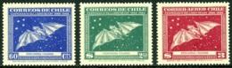 CHILE 1948 GAY's NATURAL HISTORY, THE 3 BAT VALUES** (MNH) - Chile