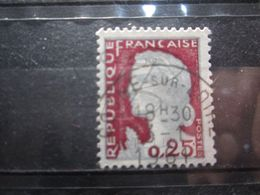 """VEND BEAU TIMBRE DE FRANCE N° 1263 , OBLITERATION """" COSNE SUR LOIRE """" !!! (b) - 1960 Marianne De Decaris"""