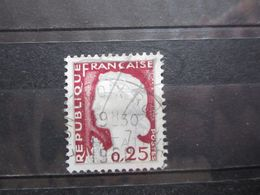 """VEND BEAU TIMBRE DE FRANCE N° 1263 , OBLITERATION """" LYON CROIX ROUSSE """" !!! - 1960 Marianne De Decaris"""