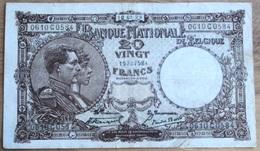 20 Francs 1923 Stacquet - Van Der Rest!! Zeldzame Datum!! 0584 - [ 2] 1831-... : Koninkrijk België