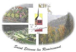SAINT ETIENNE LES REMIREMONT VOSGES  - FORET, FLEURS, EGLISE, VILLE, ENVIRONNEMENT - PAP ENTIER POSTAL FLAMME 2010 - Umweltschutz Und Klima
