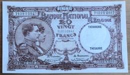 20 Francs Nationale Reeks 1931 UNC!! Verzamelstuk!! 0887 - [ 2] 1831-... : Koninkrijk België
