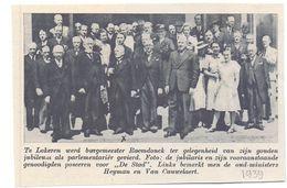 Orig. Knipsel Coupure Tijdschrift Magazine - Lokeren - Gouden Jubileum Burgemeester Raemdonck - 1939 - Oude Documenten