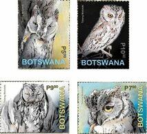 Botswana 2020 Bird- Owls 4v Mint - Botswana (1966-...)