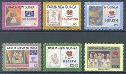 PAPUA NEW GUINEA -  MNH/** - 2007 - LAW JUSTICE HEALTH EDUCATION - Yv 1163-1168 -  Lot 21908 - Papua-Neuguinea