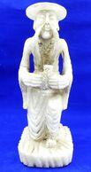 """Grande Statue En Pierre Dure """" Chinois A La Gourde"""" - Pierre Dure - Art Asiatique"""